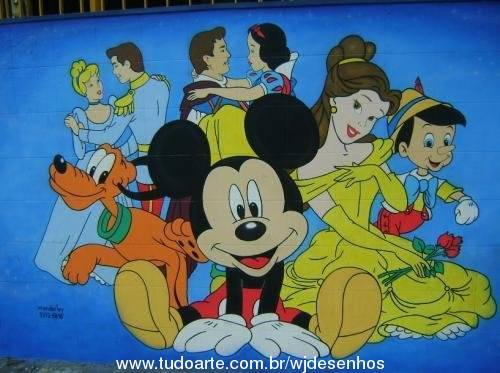 pintura de personagens disney